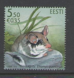 Estonia Sc 652 2010 5.5k Mouse stamp mint NH