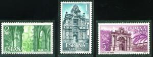 SPAIN Scott 1388-1390 MNH** 1966 Carthusian Monastery Jerez