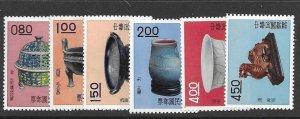 China (ROC) 1302-7 1960 set 6 hinged
