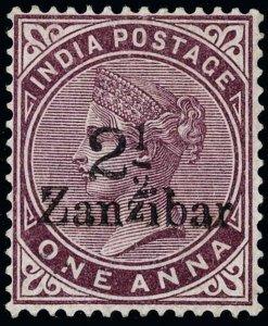 Zanzibar Scott 19D Gibbons 24D Mint Stamp