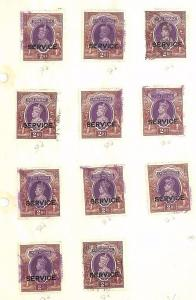 SA1161 INDIA KGV SERVICE Overprints Original Album page from old-time collection