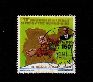 Ivory Coast - 1980 - SC 570 - Used - Pres. Houphouet-Boigny