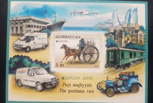 O) 2013 AZERBAIJAN, PROOF,THE POSTMAN VAN, MEANS OF MAIL TRANSPORTATION -BOMBE C