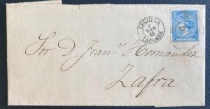 1866 Trujillo Spain Letter Sheet cover To Zafra