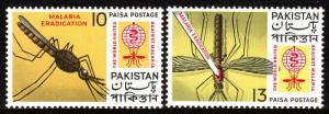 Pakistan 160-161, MNH. WHO drive to eradicate Malaria, 1962