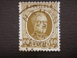 BELGIUM, 1922, 60c. olive, used.Albert I.