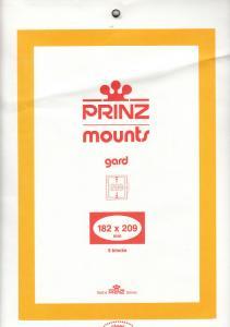 PRINZ BLACK MOUNTS 182X209 (5) RETAIL PRICE $10.50