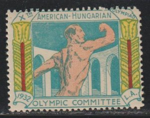 Hungary 1932 Olympic Label Mint Never Hinged
