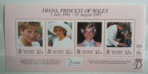 Solomon Islands 1998 Death of Princess Diana 1961-1997 MNH Mini sheet
