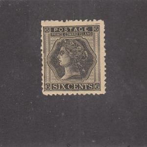 P.E.I.  # 15  VF-MNH  6cts  1872 QUEEN VICTORIA/ BLACK  CAT VALUE $18