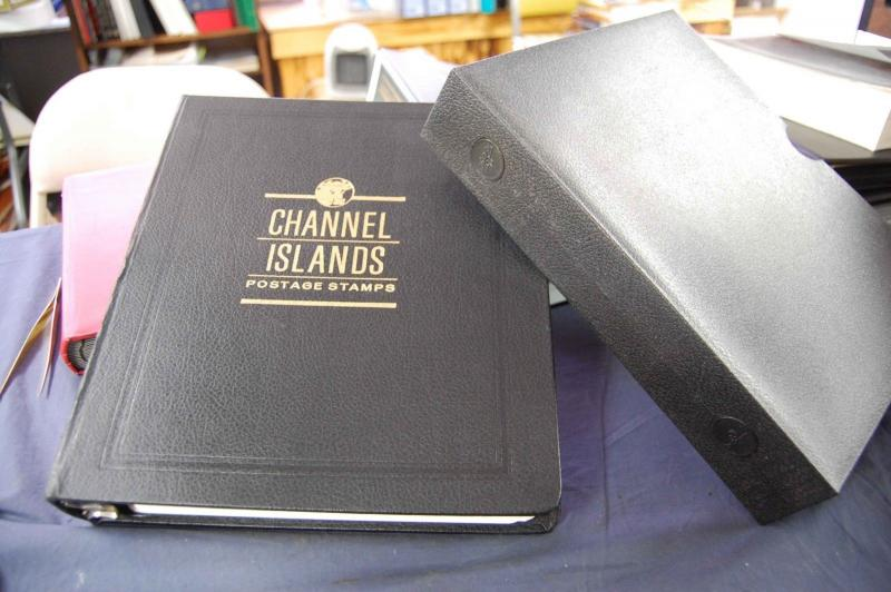 White Ace Channel Islands Album 3R Binder Gold Embossed & Case & Pages 1965-1986