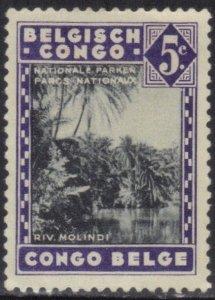BELGIUM-CONGO SC# 166 **MH** 5c  1937-38   SEE SCAN