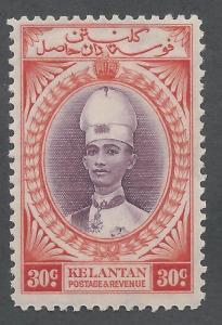 KELANTAN 1937 SULTAN 30C