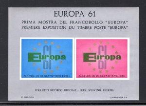 Italy Europa 61 Private Souvenir Sheet, MNH   ...  3001143