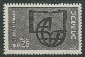 France Unesco - Scott 206 - Unesco Issue -1966 - MLH - Single 25c Stamp