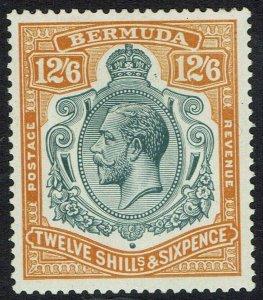 BERMUDA 1924 KGV 12/6 WMK MULTI SCRIPT CA