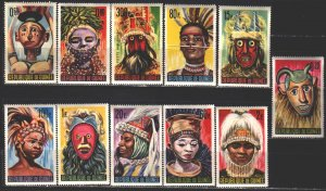 Guinea. 1965. 274-85 from the series. Masks, folklore. MNH.