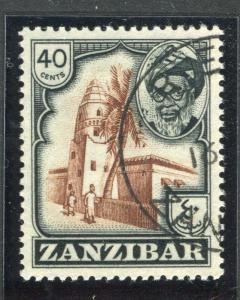 ZANZIBAR;   1957 early Sultan Harub issue fine used 40c. value