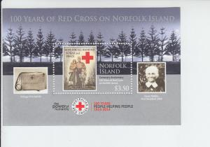 2015 Norfolk Island Red Cross SS (NA) MNH