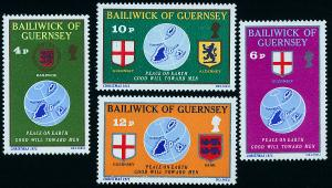 GUERNSEY 127-130 Christmas Issue, Maps, Coats of Arms NH(10)