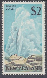 NEW ZEALAND 1968 $2 multicoloured Geyser fine MNH...........................P815