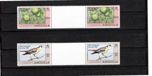 Anguilla 1980 Sc 387-8 MNH Commemorative Perforate Gutter Pairs