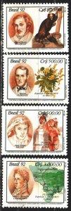 Brazil. 1992. 2472-75. Explorers Brazil, fauna, flora, rossica. MNH.