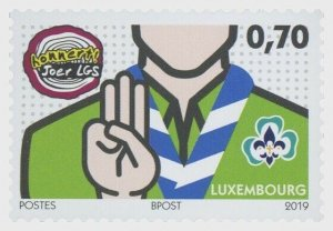 2019 LUXEMBOURG -  100 YRS OF SCOUTING  - UNMOUNTED MINT SET