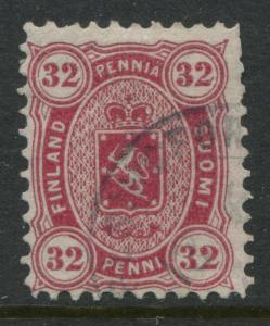 Finland 1875 32p carmine CDS used