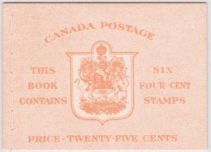 Canada - #BK41c - 1950 4c Carmine Complete Stitched Booklet
