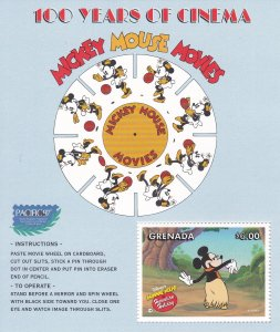 Grenada # 2700 Disney Characters, Minnie Mouse, Souvenir Sheet, NH, 1/2 Cat.