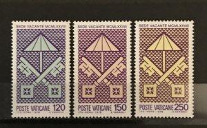 Vatican City 1978, #635-37, MNH, CV $.75