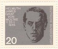 Germany 889 Nazi Resistance Portraits MNH 1964 Helmuth von Moltke
