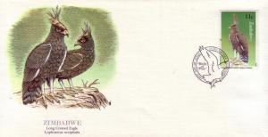 Zimbabwe FDC SC# 482 Long Crested Eagle L402