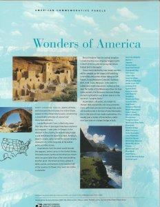 USPS COMMEMORATIVE PANEL #766 WONDERS OF AMERICA #4033-4072