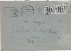 Germany Soviet Zone 1948 Leipzig to Bad Sachsa stamps cover  R20728