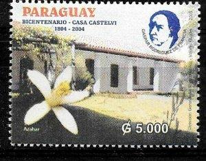 PARAGUAY 2005 HOUSE CASTELVI BICENTENARY FLOWER MNH MI 4955