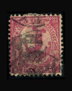 VINTAGE: AUSTRALIA 1888 USED PH SCOTT # 81B $20 LOT # AUSNSW88