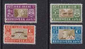 Netherlands Indies  #B16-B19     MH  1933  relief of the poor