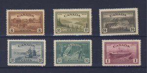 6x Canada Peace Issue Mint Stamps #268 to #273 Guide Value = $85.00