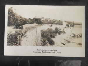 1920s Leeward Island Real Picture Postcard Cover RPPC Posted American Cruise
