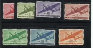 C25-C31  6c-50c MNH (C31 has hinge mark) F/VF-VF Centering All come in mounts