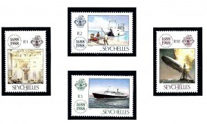 Seychelles 649-52 MNH 1988 Lloyds of London (Ships)