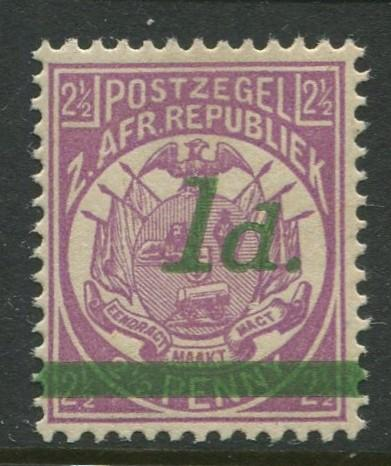 Transvaal - Scott 163 - Surcharge Issue -1895 -MNH -Single 1p on a 2.1/2p Stamp