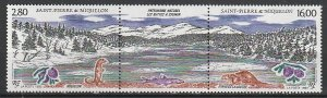 1993 St. Pierre and Miquelon - Sc 594a - MNH VF - 1 pr - National Heritage