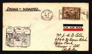 Canada 1930 FFC Regina to Winnipeg - L2071