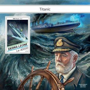Sierra Leone Titanic Stamps 2018 MNH Ships Boats Nautical 1v S/S