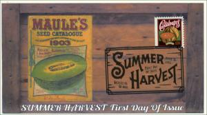 2015, Summer Harvest, Cantaloupes, BW Pictorial, FDC, 15-189