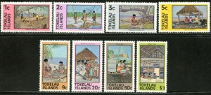 TOKELAU Sc#49a-56a 1981 Local Native Life Re-Issued Perf 15 Cpl Set OG Mint NH