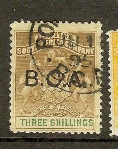 BRITISH CENTRAL AFRICA ARMS (P2306B) BCA 3/- SG10 CDS  VFU